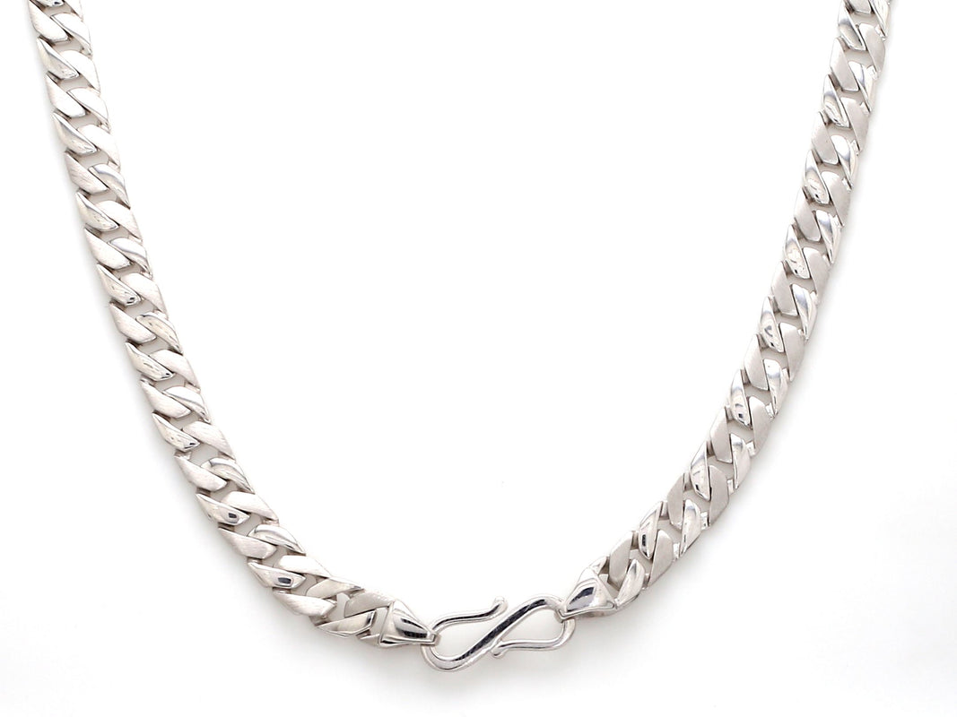 Lock Side View of Men's Heavy Platinum Chain JL PT 737
