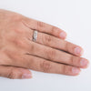 Lovely Secret Platinum Ring with Diamonds for Men SJ PTO 220 Finger shot. This photo shows how the ring looks when worn on the hand of a man.
