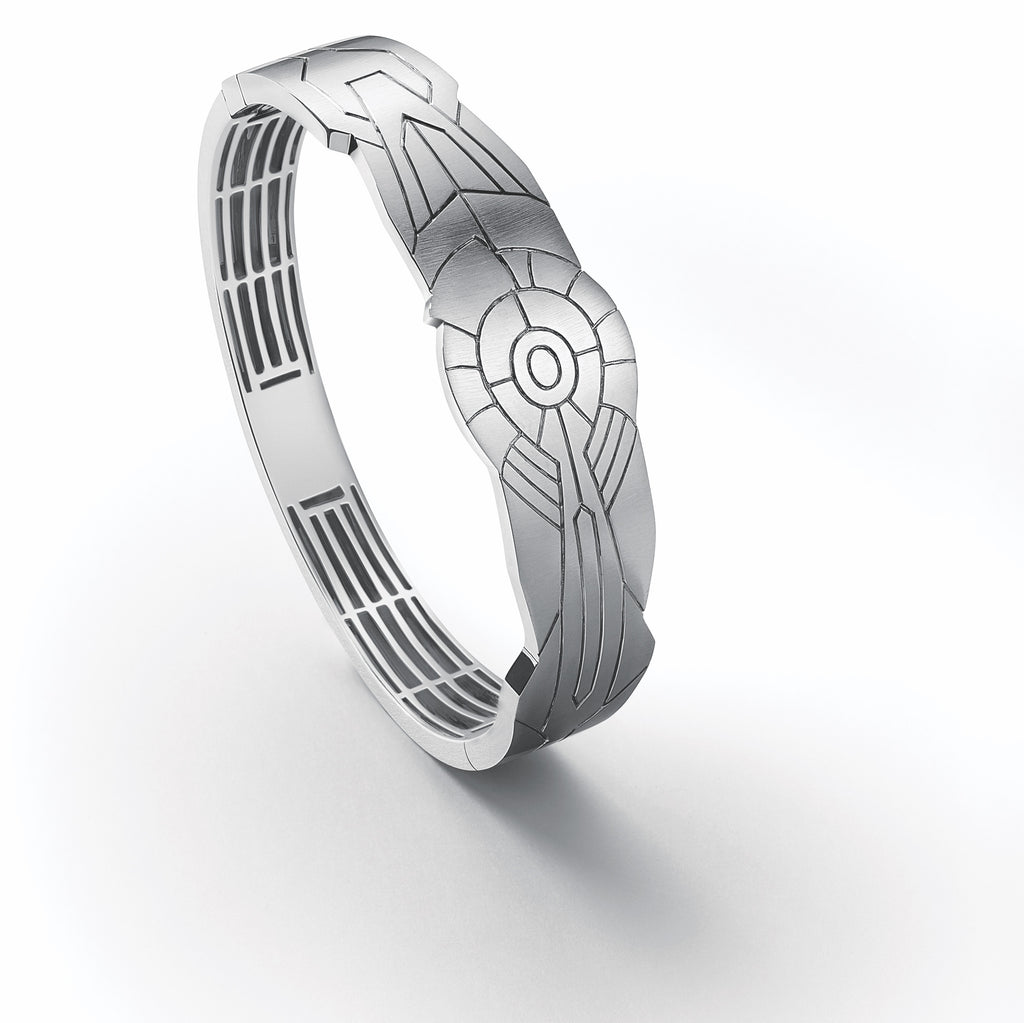 Men of Platinum Kada Bracelet with Engraving JL PTB 654