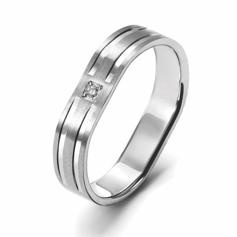 Men of Platinum | Single Diamond Platinum Ring for Men JL PT 686