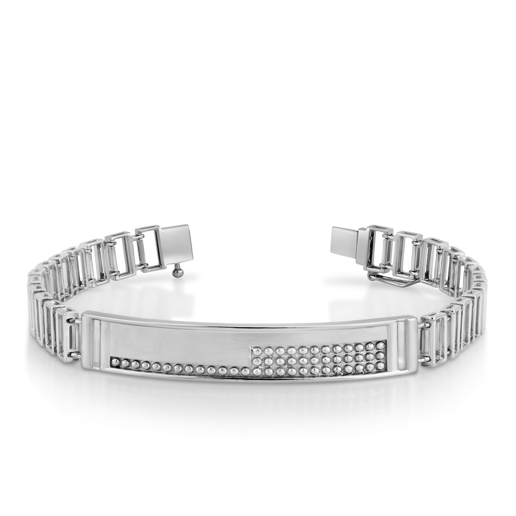 Men of Platinum | Designer Bold Interwoven Platinum Bracelet JL PTB 740