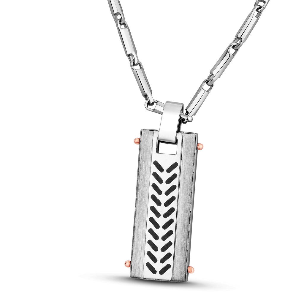 Men of Platinum | Arrow Pendant for Men with a Touch of Rose Gold JL PT P 192