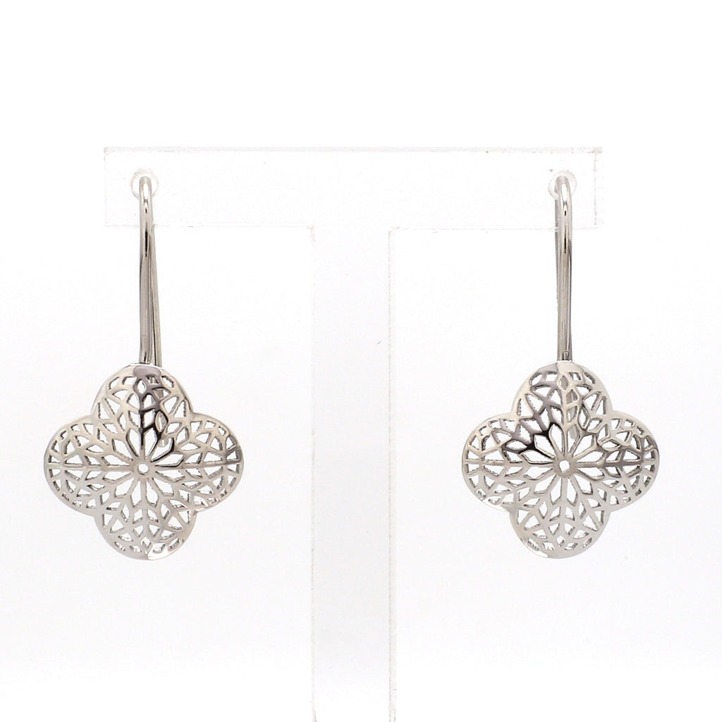 Designer Filigree Platinum Earrings for Women JL PT E 203
