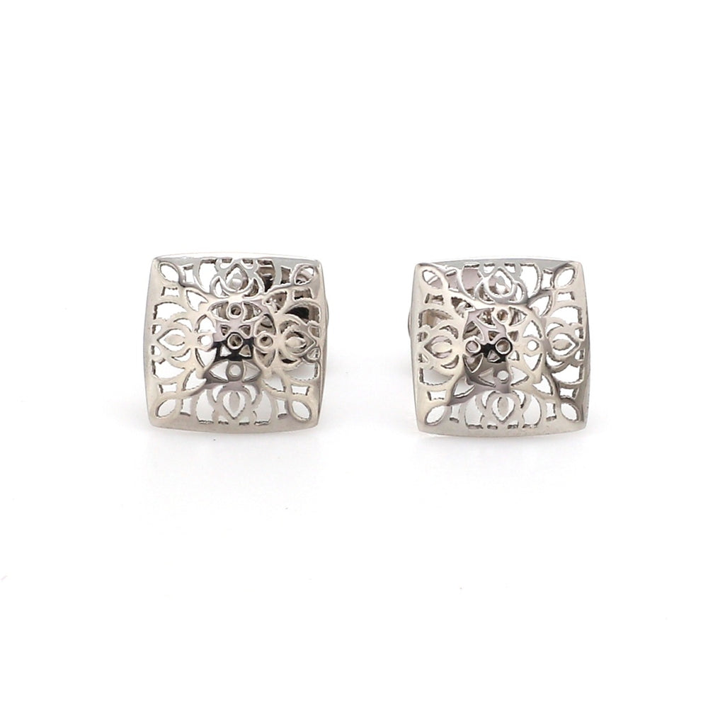 Designer Filigree Platinum Earrings for Women JL PT E 201