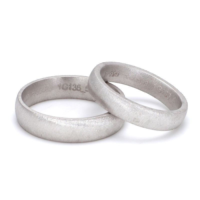 Textured Comfort Fit Platinum Love Bands SJ PTO 136