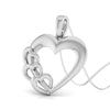 Perspective View of Plain Platinum Love Pendant JL PT P 8233