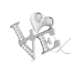 Perspective View of Platinum Infinity Heart Pendant with Diamonds JL PT P 8218