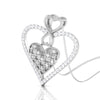 Perspective View of Platinum Infinity Heart Pendant with Diamonds JL PT P 8231