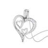 Perspective View of Platinum Tripple Heart Pendant with Diamonds JL PT P 8067