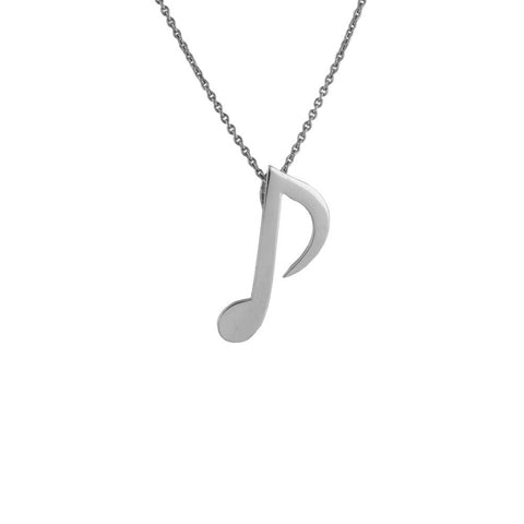 Plain Pendant 8th Note / Quaver Musical Note Pendant JL PT E 166