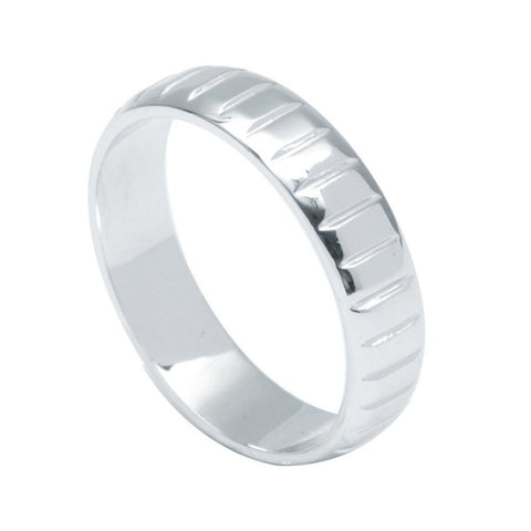Plain Platinum Band with Stripes for Men JL PT 483