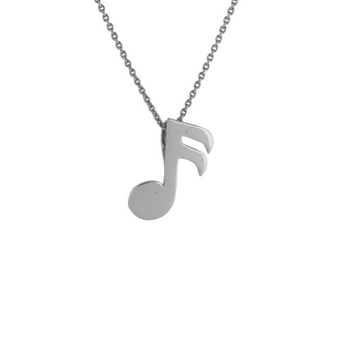 Plain Platinum Pendant Designed as 16th Musical Note / Semi Quaver Note JL PT E 167