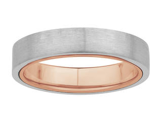 Platinum Band with Rose Gold Band Inside JL PT 439
