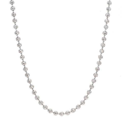 Japanese Platinum Chain with Diamond Cut Balls JL PT 748