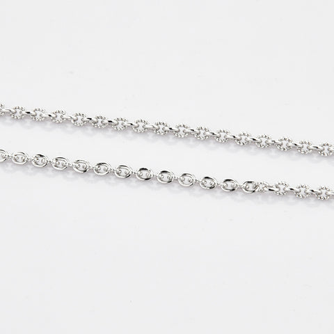 Platinum Chain with Milgrain Cut Links JL PT 770