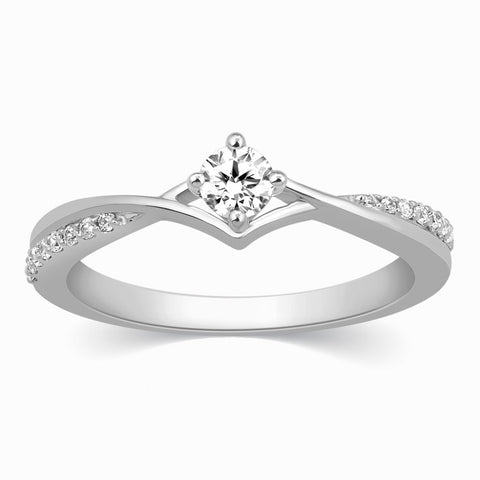 20 Pointer Platinum Diamond Engagement Ring  JL PT 573-A