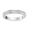 Thin Half Eternity Platinum Wedding Band with Diamonds set in Channel Setting SJ PTO 244-A