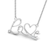 Platinum Love Pendant with Diamonds JL PT P 169 by Jewelove. One Pendant designed as the word love with a V in the form of a heart set with diamonds DOC-P8062-S