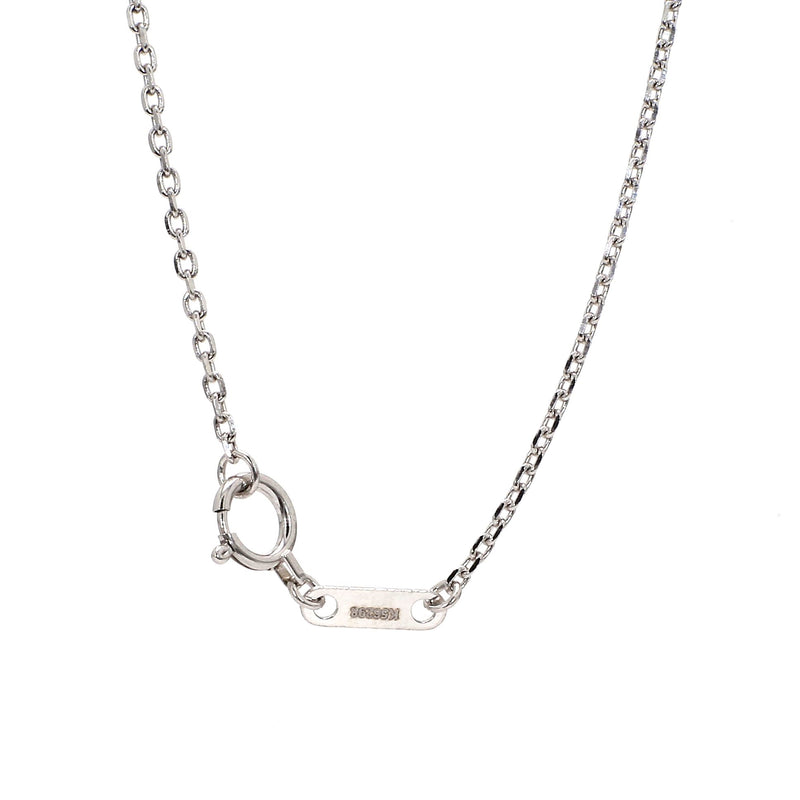 Plain Platinum Chain With Round Links SJ PTO 704
