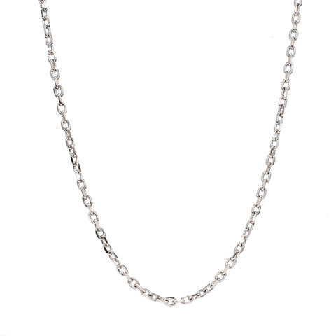 Japanese Plain Platinum Chain With Round Links SJ PTO 704