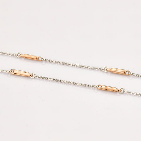 Platinum Rose Gold Designer Loops Chain JL PT 805