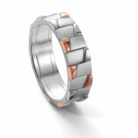 Men of Platinum | Rose Gold Fusion Ring for Men JL PT 684