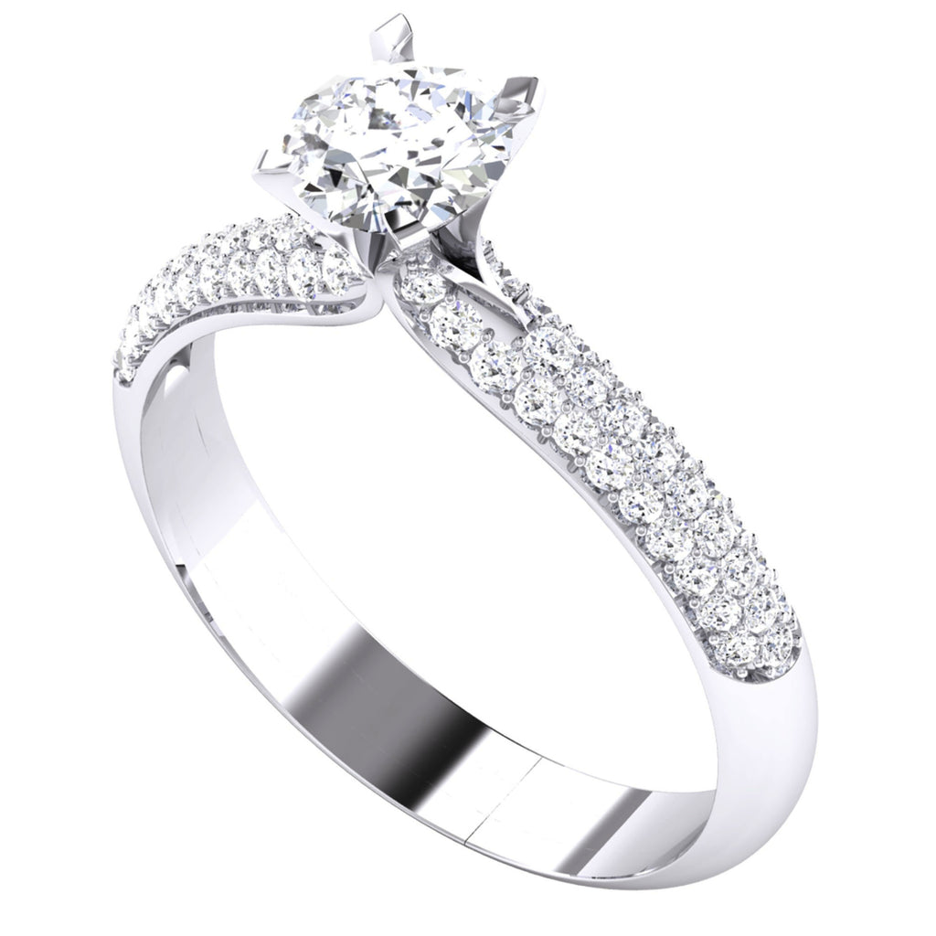 jl engagment pt for prongs on platinum solitaire shank small diamonds with accents pointer the view perspective women engagement pave ring in products diamond setting