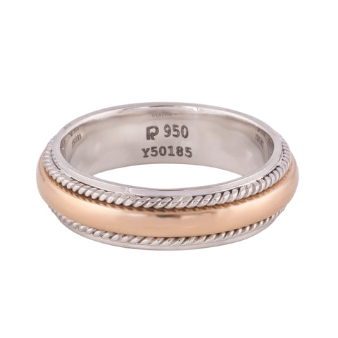 Platinum & Yellow Gold Fusion Ring for Men JL PT 522