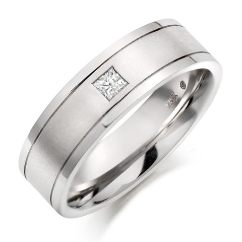 Princess Cut Single Diamond Ring for Men JL PT 420