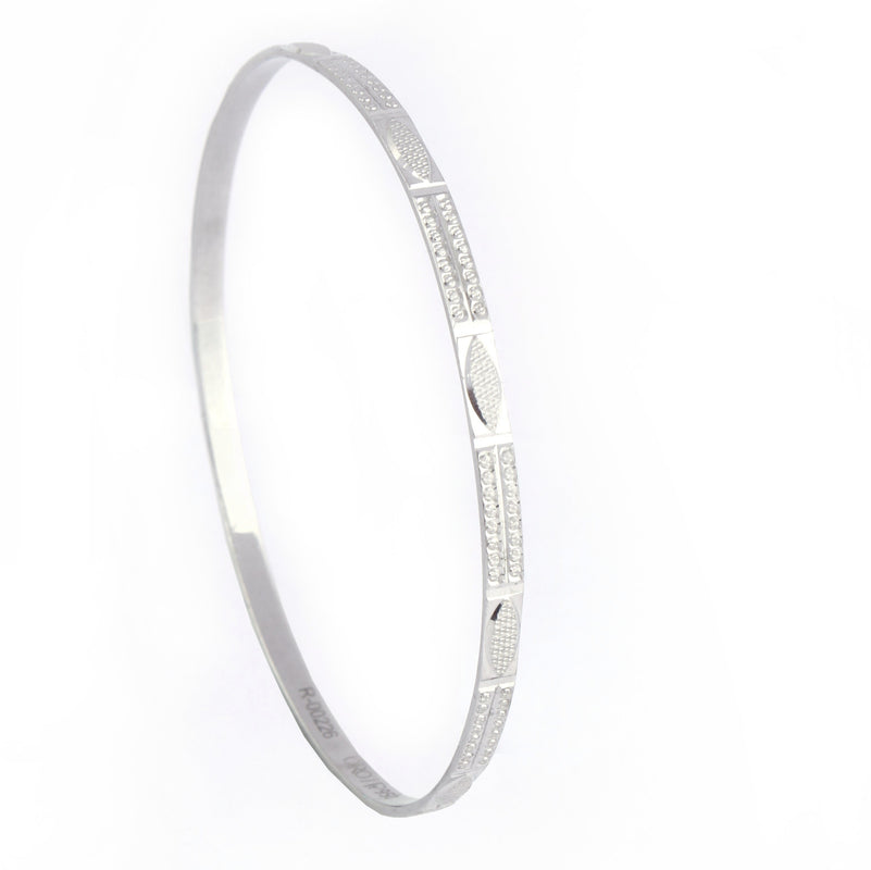 Super Sale - Platinum Bangle for Women SJ PTB 607 in Size 2.6
