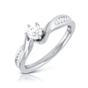 Designer Curvy 20-Pointer Platinum Engagement Ring JL PT R-17