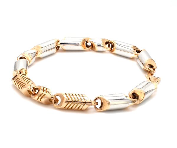 Designer Heavy Platinum & Rose Gold Bracelet for Men JL PTB 753