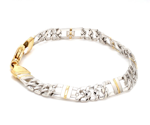 Designer Platinum & Yellow Gold Bracelet for Men JL PTB 750