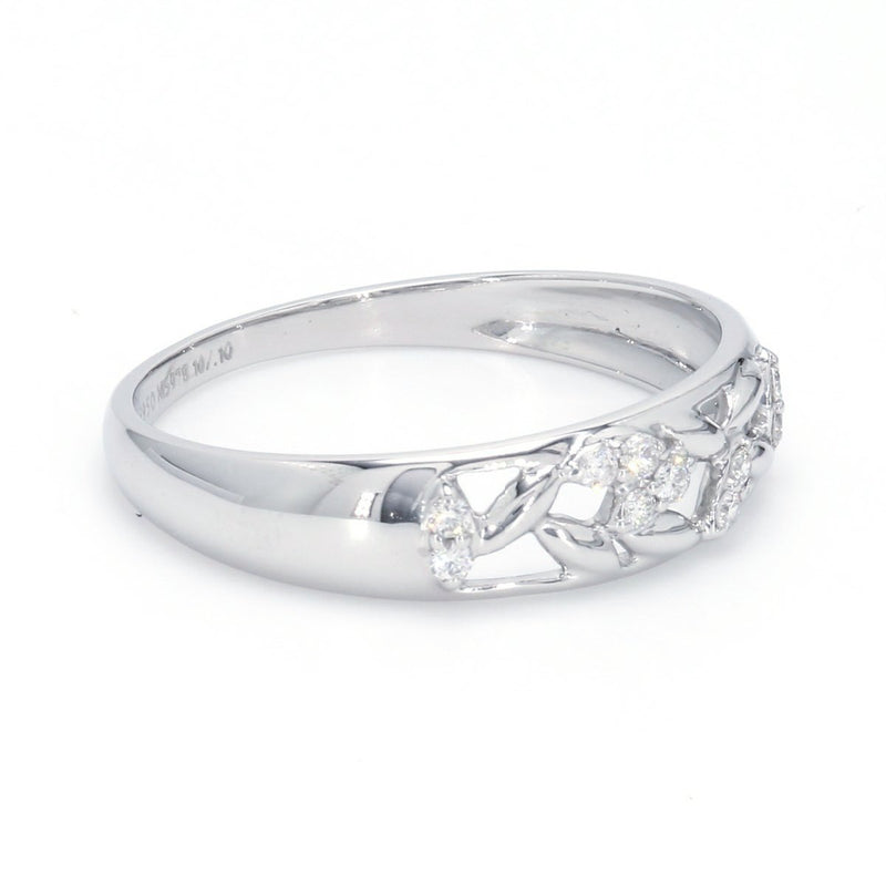 SIDE View of Designer Platinum Diamond Ring for Women JL PT 572