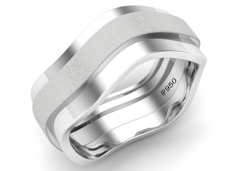 Super Sale - Plain Platinum Ring for Men SJ PTO 138 in Size 19 - Suranas Jewelove  - 1
