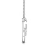 Side View of  Platinum Love Pendant with Diamonds JL PT P 8090