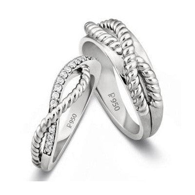 Intertwined Platinum Love Bands SJ PTO 207