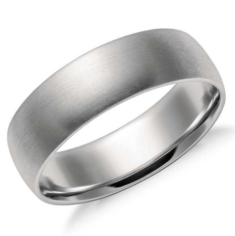 6mm Classic Platinum Band for Men in Matte Finish SJ PTO 251