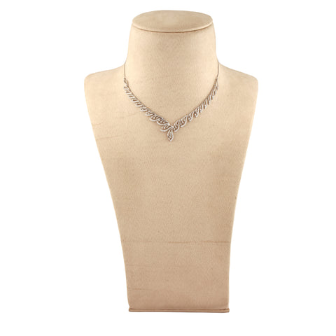 Platinum Necklace with Diamonds JL PT N33