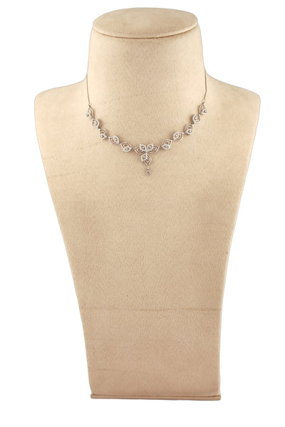 Super Sale - Platinum Necklace with Diamonds JL PT N34