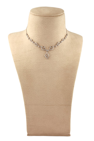 Super Sale - Platinum Necklace with Diamonds JL PT N35
