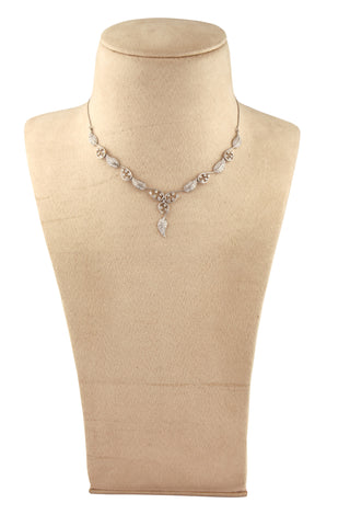 Super Sale - Platinum Necklace with Diamonds JL PT N32