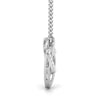 Platinum Infinity Heart Pendant with Diamonds JL PT P 170
