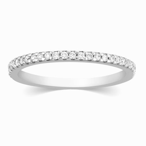 Super Sale - Thin Half Eternity Diamond Ring in Platinum JL PT 284 Size 16
