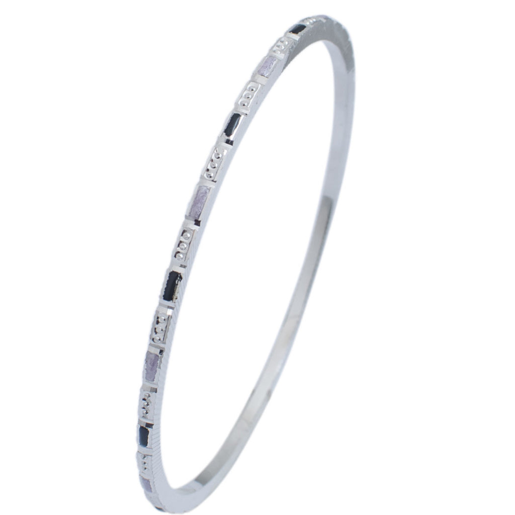 malda products pav collections diamond thin rhodium bangle bracelets gunmetal bangles black designs