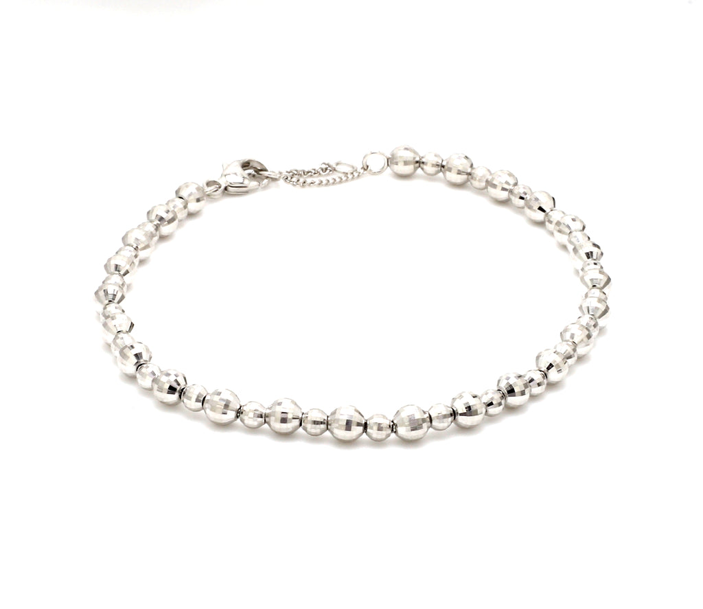 Platinum Bracelet with Diamond Cut Balls JL PTB 656