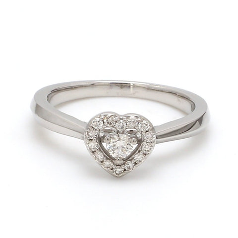 Ready to Ship Platinum Heart Ring JL PT 662 Size 10