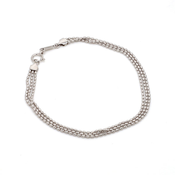 Japanese 3 Line Platinum Bracelet for Women JL PTB 664