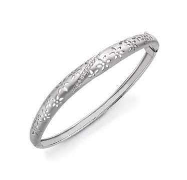 Ethnic Platinum Bracelet with Laser Cutting & Diamonds SJ PTB 104 in India