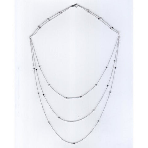 Japanese Plain Platinum Long Alpha Chain SJ PTO 708 in India